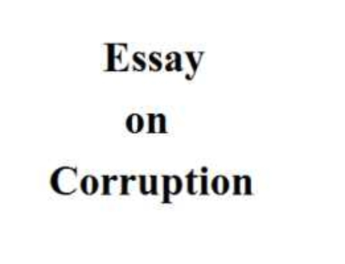 Essay On Corruption In India English For Kids Students