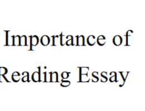 Importance of Reading Essay In English For Kids