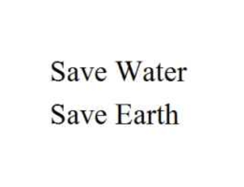 Essay On Save Water Save Earth In English For Kids Students